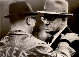 Vince Lombardi and George Halas